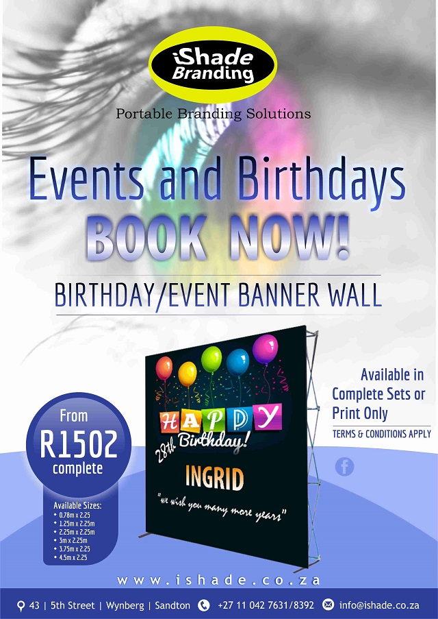 Birthday Wall Banner iShade